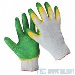 Перчатки ХБ обливные
