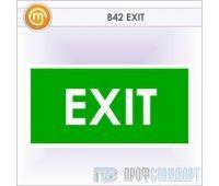 Знак «EXIT», B42 (металл, 300х150 мм)