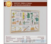 Золотая рамка «Nielsen» А1 настенная альбомная