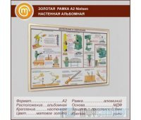 Золотая рамка «Nielsen» А2 настенная альбомная