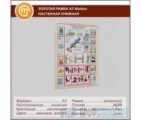 Золотая рамка «Nielsen» А3 настенная книжная