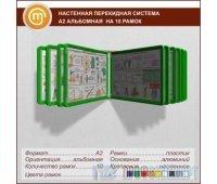 Настенная перекидная система А2 альбомная на 10 рамок