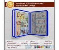 Настенная перекидная система А3 книжная на 5 рамок