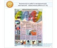 Плакат «Безопасность работ в авторемонтной мастерской - окрасочные работы» (С-76, ламинированная бумага, А2, 1 лист)