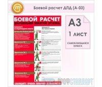 Плакат «Боевой расчет ДПД» (А-03, самоклеящаяся бумага, А3, 1 лист)