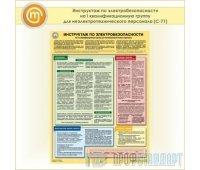 Плакат «Инструктаж по электробезопасности - на I квалификационную группу для неэлектротехнического персонала» (С-71, пластик 2 мм, А2, 1 лист)