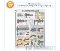 Плакат «Штангенциркуль - конструкция, настройка, измерения» (С-30, ламинированная бумага, А2, 1 лист)