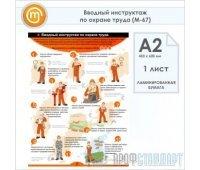 Плакат «Вводный инструктаж по охране труда» (М-67, ламинированная бумага, А2, 1 лист)
