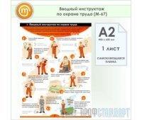 Плакат «Вводный инструктаж по охране труда» (М-67, самоклеящаяся пленка, А2, 1 лист)