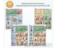 Плакаты «Безопасная эксплуатация газораспределительных пунктов» (С-34, ламинированная бумага, А2, 4 листа)