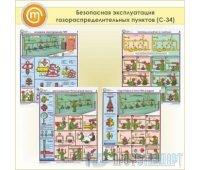 Плакаты «Безопасная эксплуатация газораспределительных пунктов» (С-34, пластик 2 мм, А2, 4 листа)