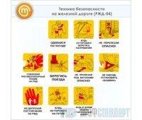 Плакаты «Техника безопасности на железной дороге» (РЖД-04, ламинированная бумага, А3, 10 листов)