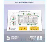 План эвакуации на бумаге (A0 формат)