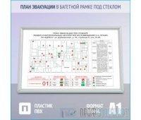 План эвакуации в багетной рамке под стеклом (A1 формат)