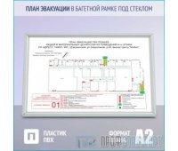 План эвакуации в багетной рамке под стеклом (A2 формат)