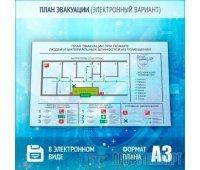 План эвакуации в электронном варианте (A3 формат)