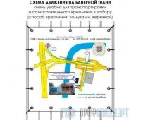 Схема движения автотранспорта (1000х1000 cм, баннерная ткань)
