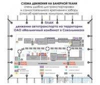 Схема движения автотранспорта (1500х1000 cм, баннерная ткань)