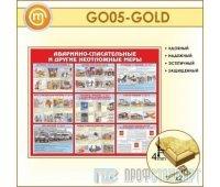 Стенд «Аварийно-спасательные и другие неотложные меры» (10GO-05-GOLD00)