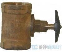 Клапан пожарный латунный прямоточный d 50 муфта-муфта (M-M)