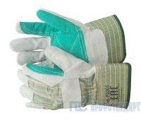 Перчатки спилковые комбинированные  усиленные «Докер»