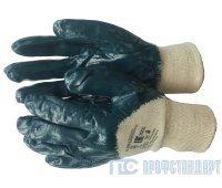 Перчатки нитриловые частичный облив