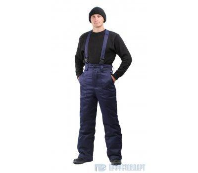 Брюки мужские зимние тк.грета т-синие
