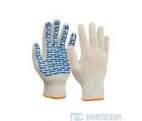 Перчатки 4-нити 7,5 класс ПВХ Волна (эконом)