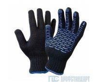 Перчатки 4-нити 10 класс ПВХ Волна